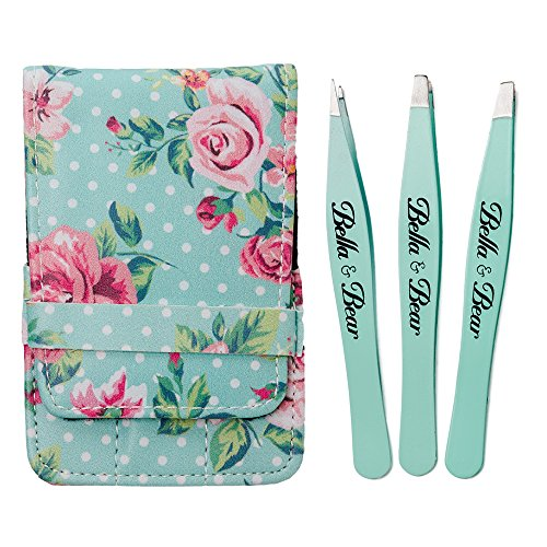 Eyebrow Tweezers Professional Stainless Steel 3 Piece Tweezers Set . Precision Tweezers with Carry Case Includes Slanted Tweezers, Pointed Tweezers & Flat Tweezers for eyebrows and many other uses | Amazon Reviews | Cool gadgets | Ideas | Products | Makeup | Fashion | Beauty | Fashion Tricks