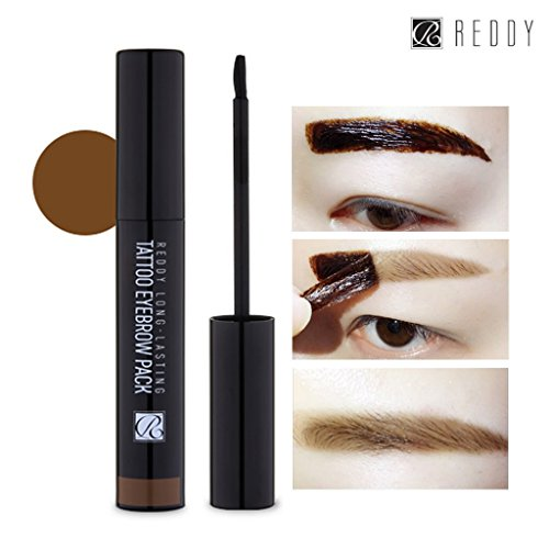 [REDDY] Long Lasting Tattoo Eyebrow Pack 10g, Peel-Off 7 Days Eyebrow Tint Gel, Made in Korea (Light Brown) | Amazon Reviews | Cool gadgets | Ideas | Products | Makeup | Fashion | Beauty | Fashion Tricks
